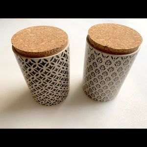 2 small World Market canisters